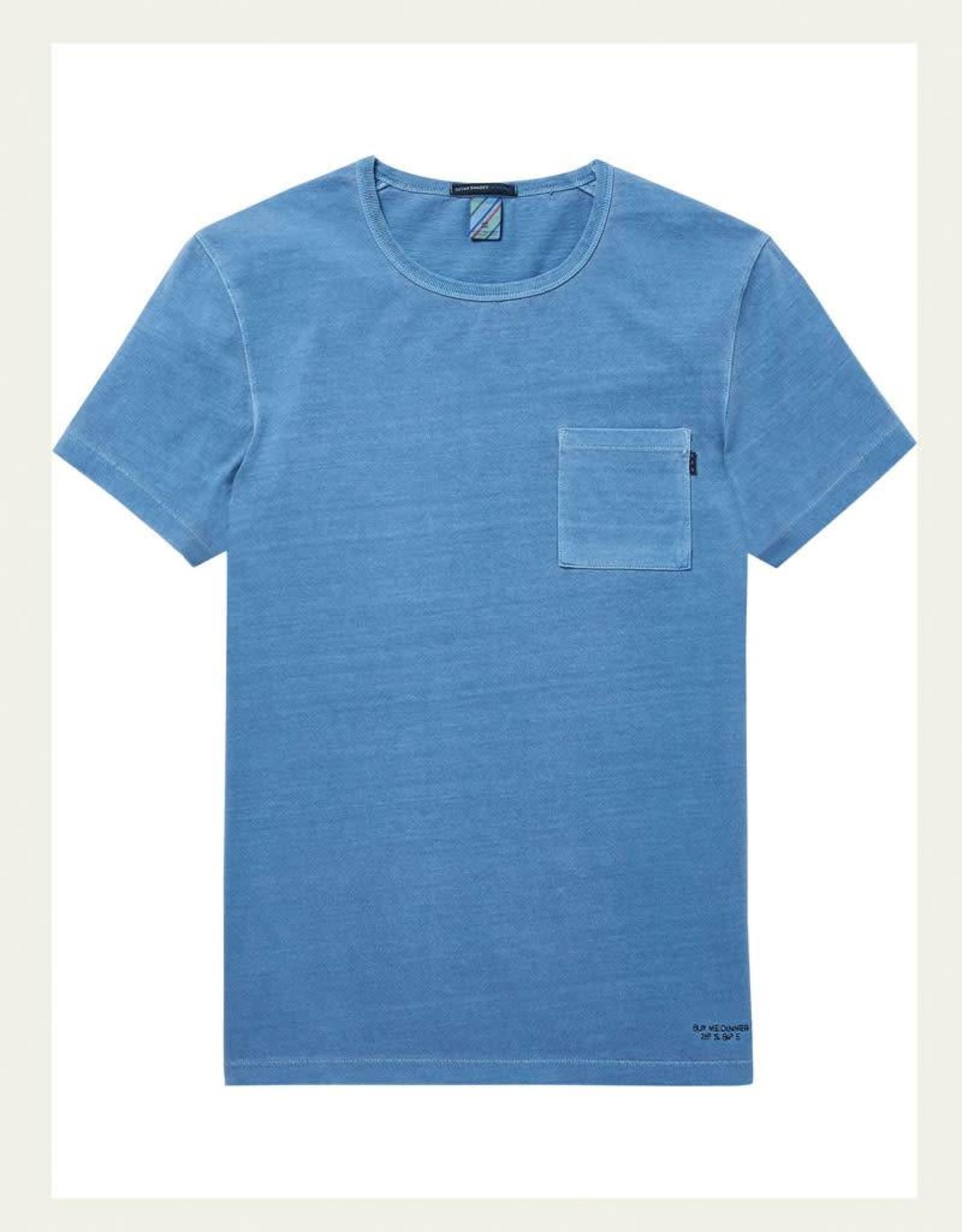 Scotch & Soda Garment Dyed Regular Tee 144216   Blue Dusk