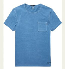 Scotch & Soda Garment Dyed Regular Tee 144216 | Blue Dusk