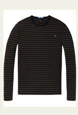 Classic Cotton / Elastane Longsleeve Tee 145489  | Moss Green