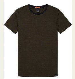 Scotch & Soda Easy Crewneck Jersey Tee145528  | Moss Navy