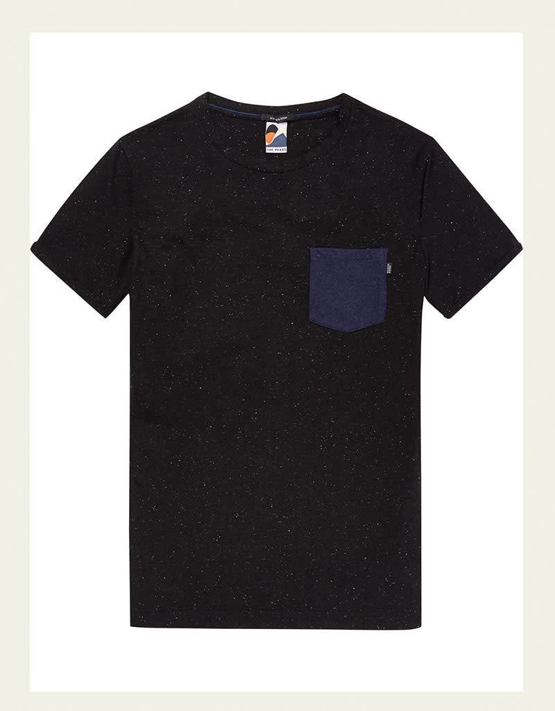 Scotch & Soda Jersey Quality Tee with Pocket 147354 | Black Melange