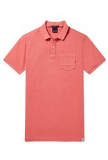 Scotch & Soda Garment Dyed Regular Fit Polo 144241 | Saffran