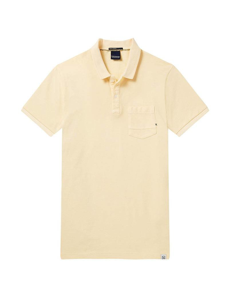 Scotch & Soda Garment Dyed Regular Fit Polo 144241 | Sunset