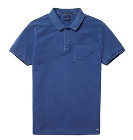 Scotch & Soda Garment Dyed Regular Fit Polo 144241| True Blue