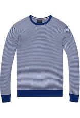 Scotch & Soda Cotton Cashmere Crew Neck Knit 144247 | Blue / White