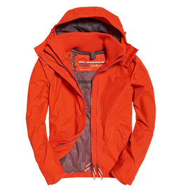 Superdry Tech Hood Pop Zip Windcheater | Acid Orange