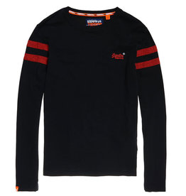 Superdry Orange Label Long Sleeve Ringer | Bijou Blue Grit