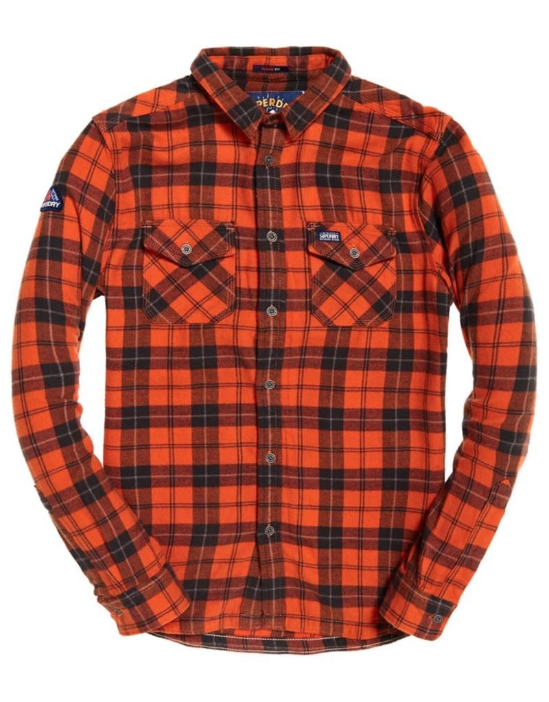 Superdry Rookie Ridge Shirt | Orange Twill