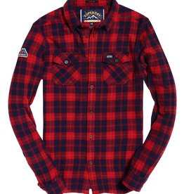 Superdry Rookie Ridge Shirt | Red Twill