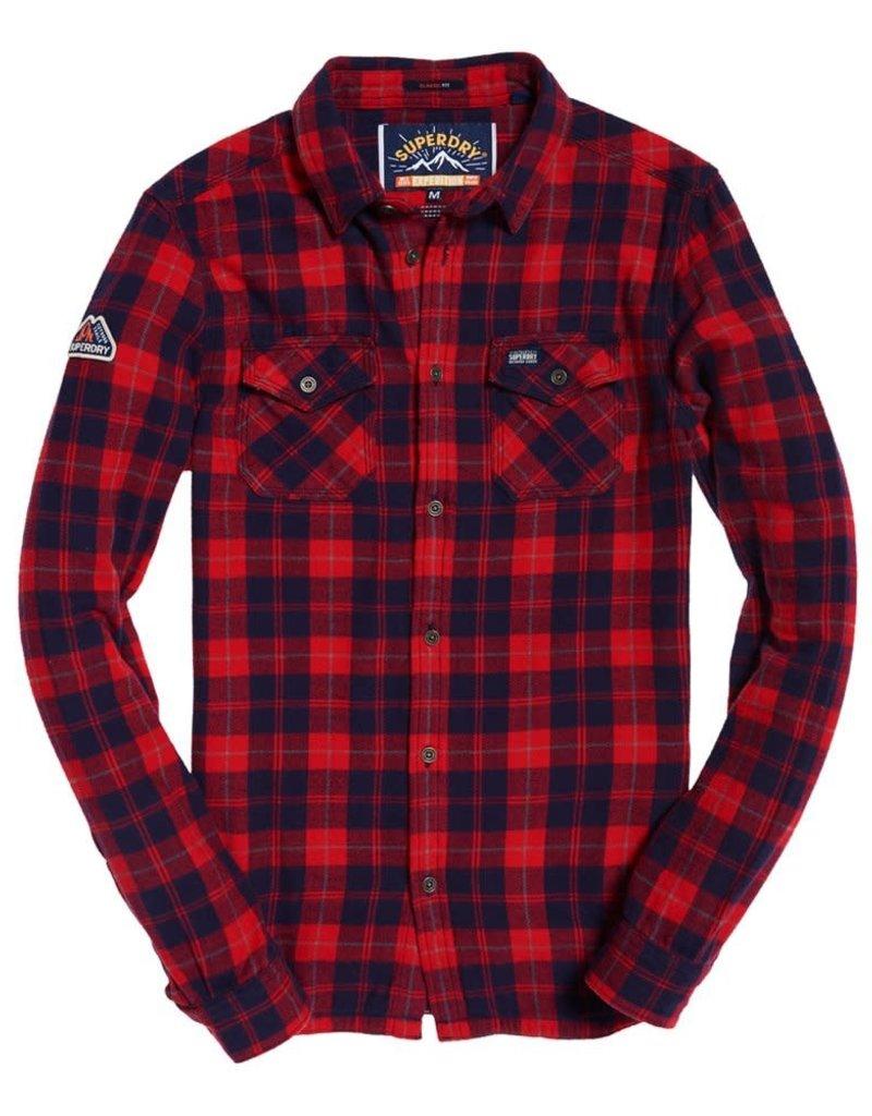 Superdry Rookie Ridge Shirt | Red Twill
