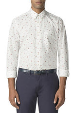 Ben Sherman Rose Scatter Shirt |Off White