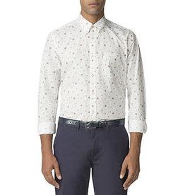 Ben Sherman Rose Scatter Shirt |Off White