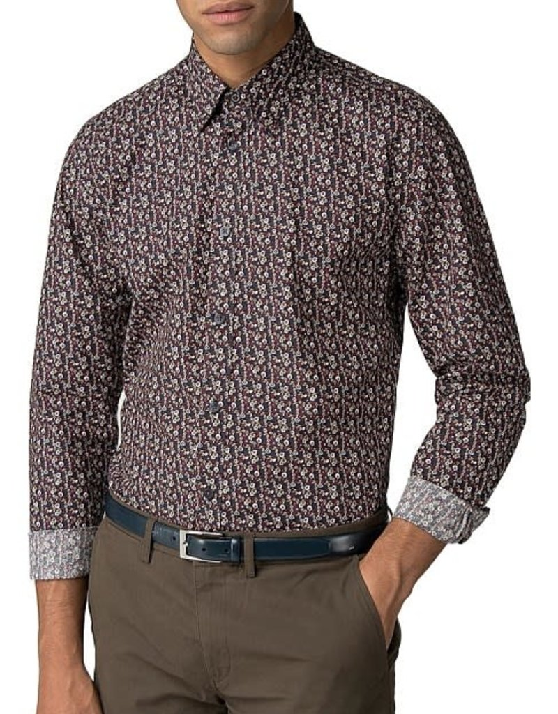 Ben Sherman Multicolour Floral Shirt | Camel