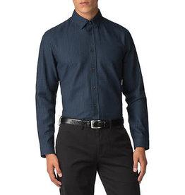 Ben Sherman Herringbone Polka Shirt   Dark Navy
