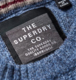 Superdry Harlo Cable Crew Pullover | Shore Blue