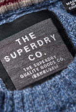 Superdry Harlo Cable Crew Pullover   Shore Blue