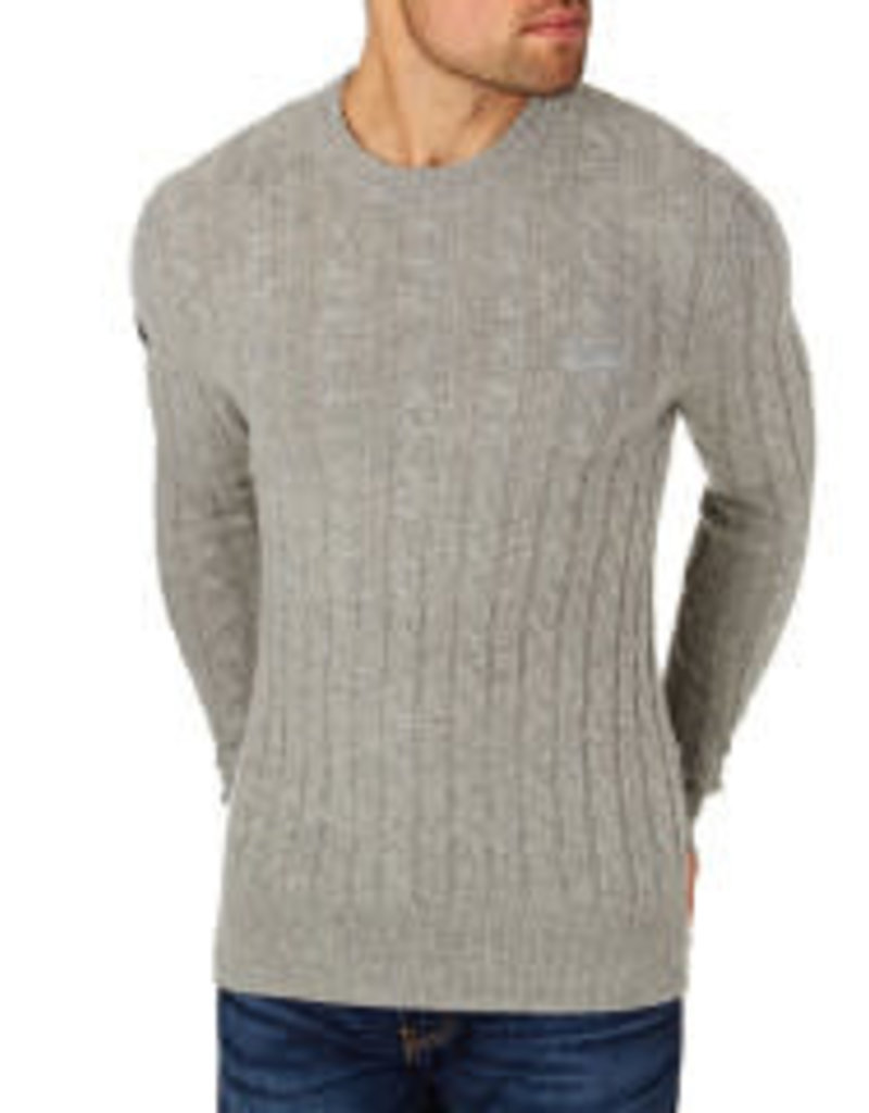 Superdry Harlo Cable Crew Pullover | Thunder