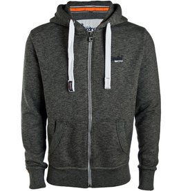 Superdry Orange Label Lite Zip Hoodie | Cavern Grey Grindle
