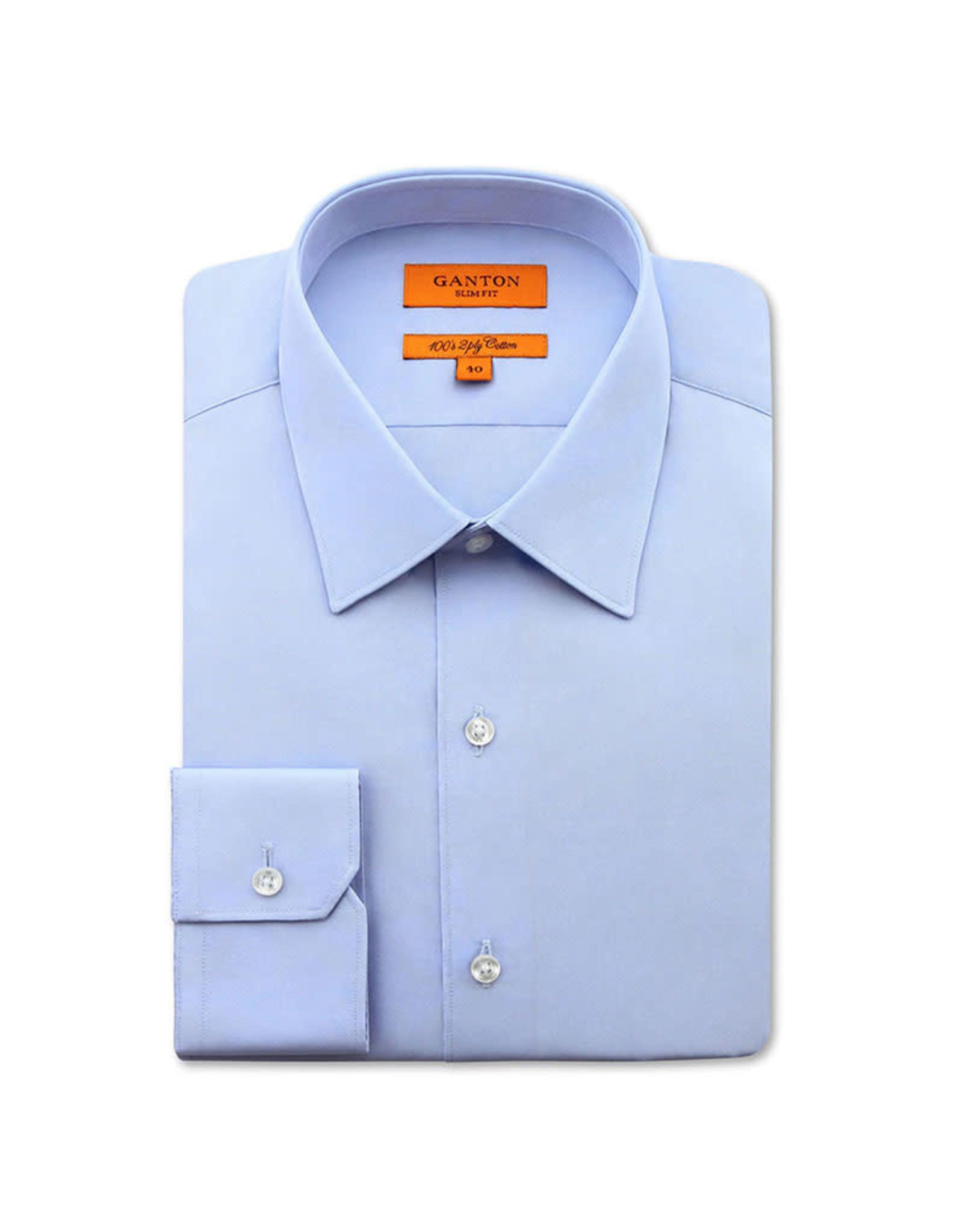 Ganton Slim Stretch Business Shirt | Blue Sky