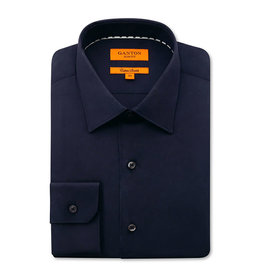 Ganton Slim Stretch Business Shirt | Navy