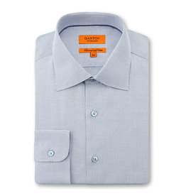 Ganton Slim Textured Business Shirt | Blue