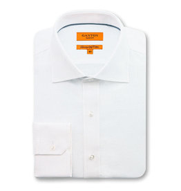 Ganton Slim Textured Business Shirt | White