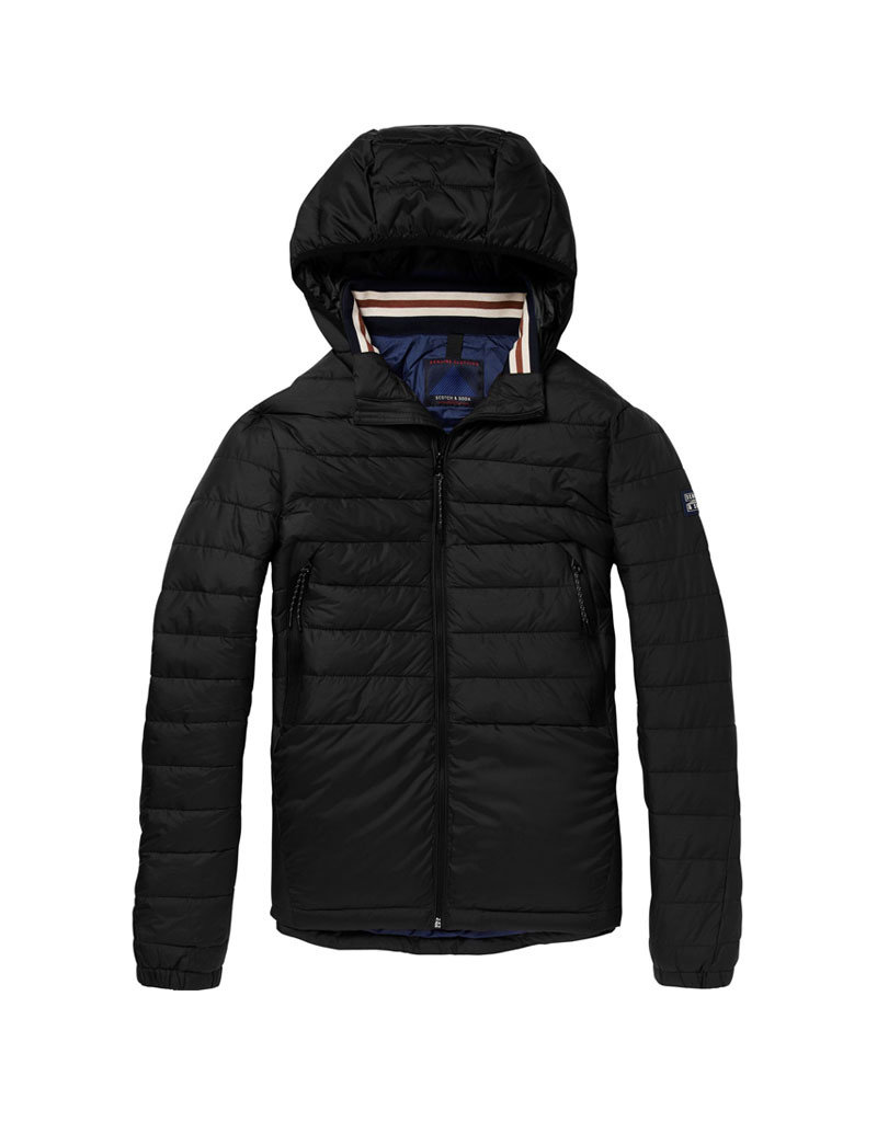 Scotch & Soda Quilted Nylon Jacket | Black