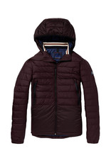 Scotch & Soda Quilted Nylon Jacket | Mahogany