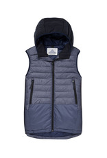 Scotch & Soda Quilted Hooded Body Warmer | Blue Denim