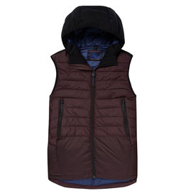 Scotch & Soda Quilted Hooded Body Warmer | Mahogany