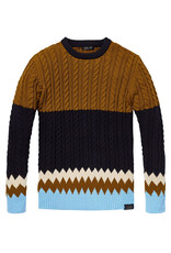 Scotch & Soda Chunky Cable knit Pullover | Urdu / Blue Melange
