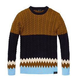 Scotch & Soda Chunky Cable knit Pullover | Urdu / Blue Melange