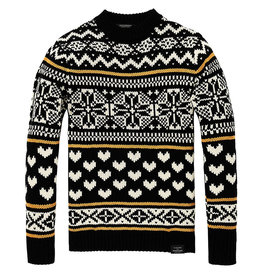 Scotch & Soda Chunky Cable knit Pullover | Fair Isle Patterns