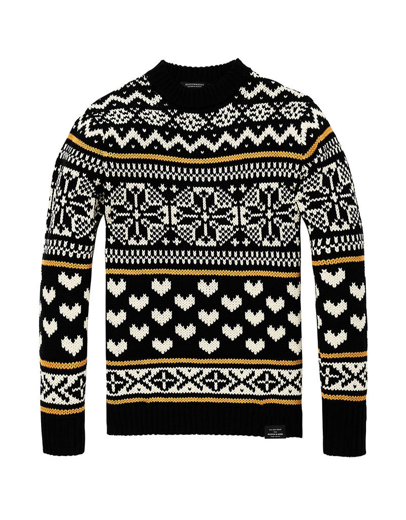 Scotch & Soda Chunky Cable knit Pullover   Fair Isle Patterns