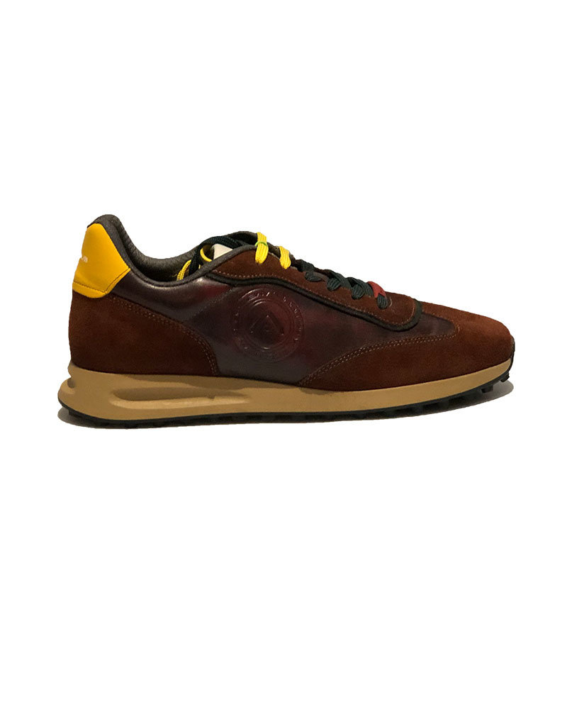 Ambitious Leather and Textile Casual Walking Shoe | Cognac / Cola