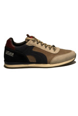 Ambitious Leather and Textile Casual Walking Shoe | Navy / Taupe