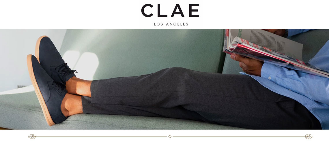 Clae Shoes are available at Mitchell McCabe Menswear n Melbourne, Australia
