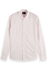 Scotch & Soda Allover Print Shirt | Light Pink