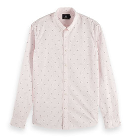 Scotch & Soda Allover Print Shirt | Light Pink
