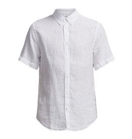 No Nationality New Derek Short Sleeve Linen Shirt | White