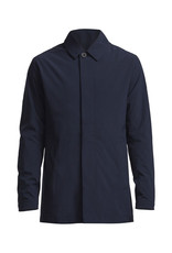 No Nationality Tyler Full-button Trench Coat | Midnight Blue