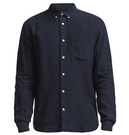 No Nationality New Derek Linen Shirt | Navy Blue