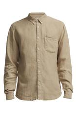 No Nationality New Derek Linen Shirt | Sand Stone