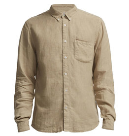 No Nationality New Derek Linen Shirt | Sand Stone