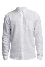 No Nationality New Derek Linen Shirt   White
