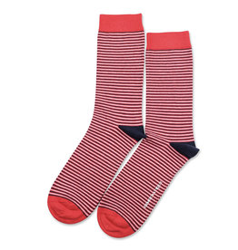 Democratique Ultralight Socks | Spring Red/Navy/ White