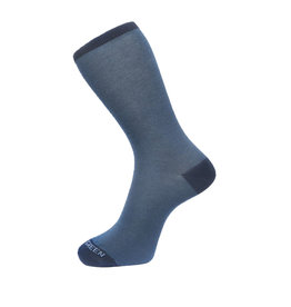 Fine Stripe Pattern Sock In Navy Blue