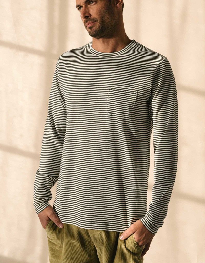 McTavish Sand Washed Long Sleeve Tee | Tar