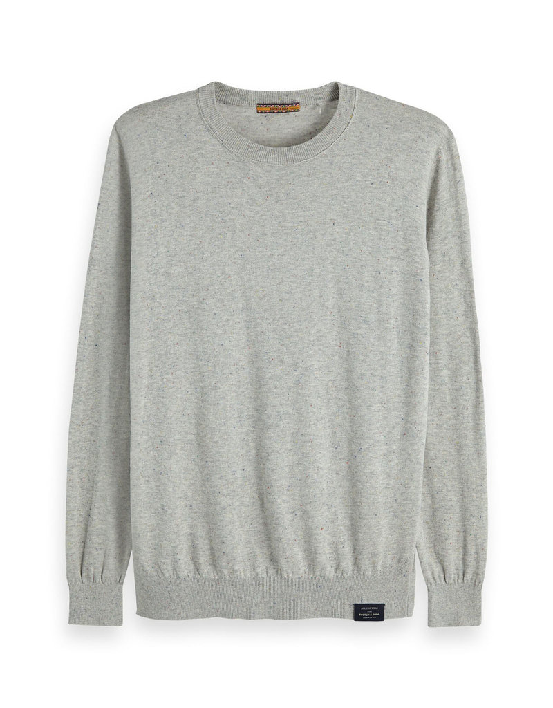 Scotch & Soda Classic Nep Quality Crewneck | Creme