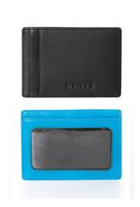 Dents Credit Card Holder | Turquoise / Black